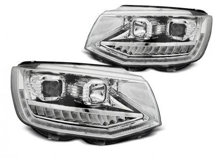 Přední světla VW T6 15-19 TUBE LIGHT DRL CHROME SEQ chrom