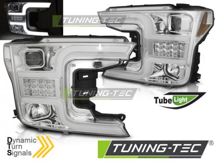 Přední světla Ford F150 MK13 17-20 chrom TUBE LIGHT