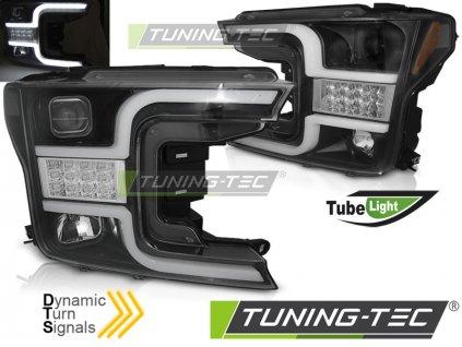 Přední světla Ford F150 MK13 17-20 černá TUBE LIGHT