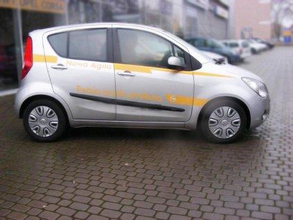 Boční ochranné lišty dveří Opel Agila II 07R htb