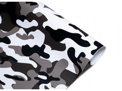 Wrapová fólie - bílo černý maskáč, Rozměr: 100 x 50 cm