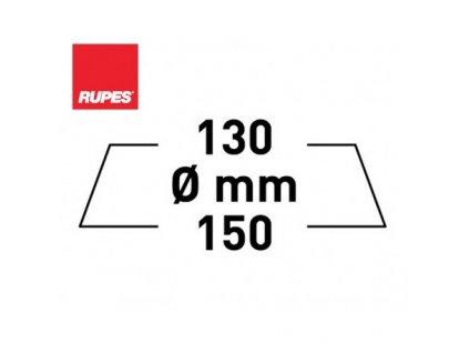 RUPES Velcro Polishing Foam Coarse HARD - korekční pěnový kotouč molitanový (hrubý) 130/150