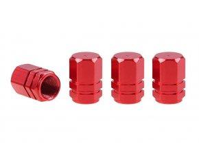 Čepičky ventilků Hexagonal - červené