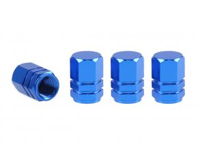 Čepičky ventilků Hexagonal - modré