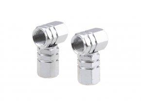 Čepičky ventilků Hexagonal - stříbrné