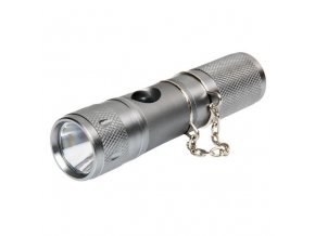 Kapesní LED svítilna - dobíjecí hliníková, 12V 1W