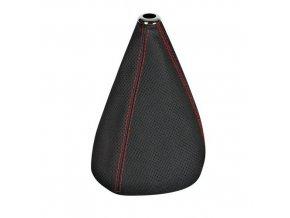 Manžeta řadicí páky Premium Sport, perforovaná kůže - černá/červená