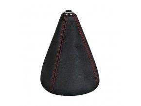 Manžeta řadicí páky Premium, pravá kůže - černá/červená