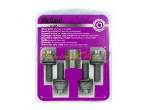 McGard bezpečnostní šrouby M12x1,25x34,5mm ploché s podložkou, klíč 17