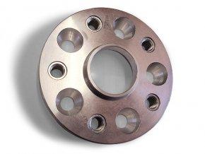 Podložka na změnu rozteče s pouzdry 5x díra / 5x závit.vložka, šířka 25mm