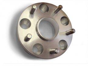 Podložka na změnu rozteče se štefty 4x díra / 4x šteft, šířka 25mm