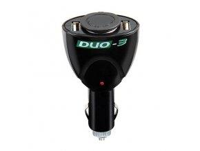 Rozbočka DUO-3,  1x zásuvka 12V  +  2x zásuvky  5V USB