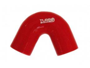 Silikonová hadice TurboWorks koleno 135°, průměr 51 mm, délka 70 mm, červená