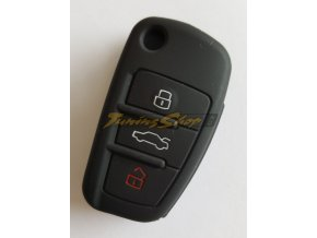 Silikonový kryt klíče Audi A1 A3 A4 A5 A6 A7 A8 Q5 Q7 R8 TT S5 S6 S7 S8 SQ5 RS5 TT - černý