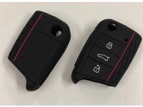 Silikonový kryt klíče VW Golf VII MK7, Škoda Octavia III A7 - černý