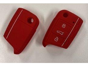 Silikonový kryt klíče VW Golf VII MK7, Škoda Octavia III A7 - červený