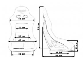 Sportovní sedačka BRIDE K109 BLACK