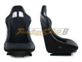 Sportovní sedačka MONZA RACE PLUS - černá koženka