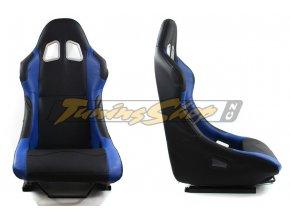 Sportovní sedačka MONZA RACE PLUS - modrá koženka