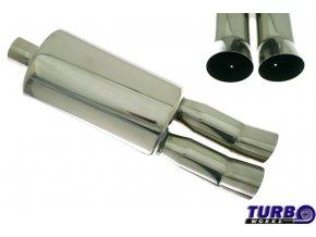 Sportovní výfuk TURBOWORKS 35 2x 76mm DTM