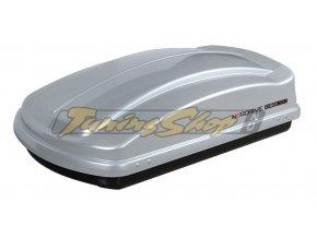 Střešní box NORDRIVE D-BOX 330 - stříbrná