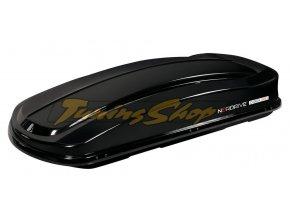Střešní box NORDRIVE D-BOX 530D - černá, dvojité otevírání