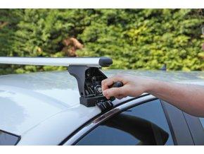 Střešní nosiče NORDRIVE Audi A3 3dv. (shiny exterior package) 09/12- ALUMIA EVOS, příčníky ALU hliník