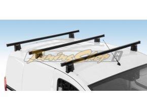 Střešní nosiče NORDRIVE Citroen Berlingo (ne roof hatch) 04/08- L1 / CARGO, černá ocel 2x 150 cm