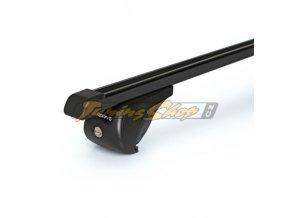 Střešní nosiče NORDRIVE RAIL-PRO příčníky, černá ocel, M - 120 cm