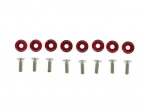 Šroubky a podložky universální JDM 6mm red