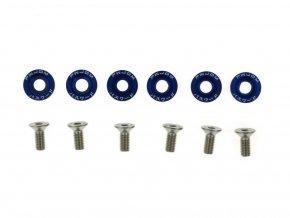 Šroubky a podložky universální JDM 8mm blue