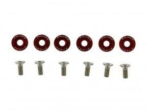 Šroubky a podložky universální JDM 8mm red