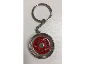 Přívěsek na klíče - lité kolo, červené