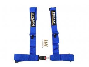"""Bezpečnostní pásy 4-bodové 3"""" EPMAN modré"""
