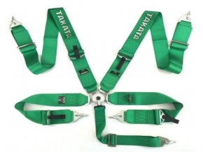 Pasy sportowe 5p 3 Green Takata Replica harness [97138] 1200[1]