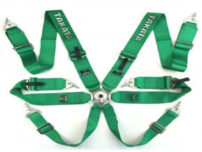 Pasy sportowe 6p 3 Green Takata Replica harness [97139] 1200[1]