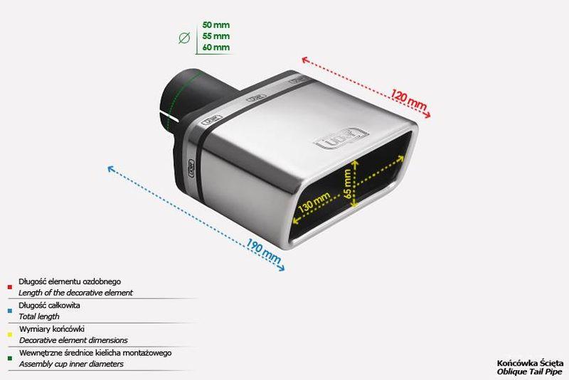 ULTER SPORT Koncovka výfuku 1x130x65 mm N1-47*