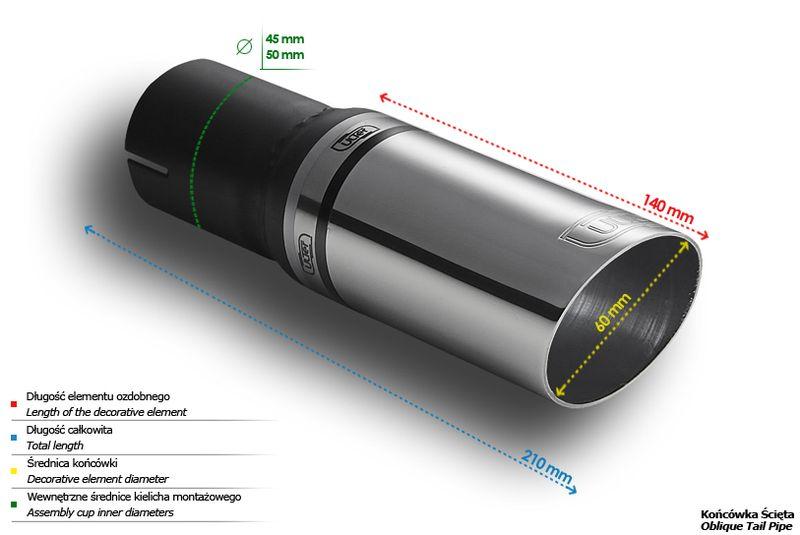 ULTER SPORT Koncovka výfuku 1x60 mm N1-05*