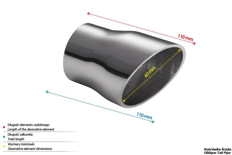 ULTER SPORT Koncovka výfuku 1x60 mm N1-53
