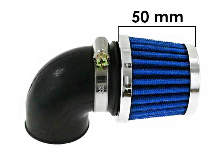 Vzduchový filtr SIMOTA 90° 28mm JS-8243-3