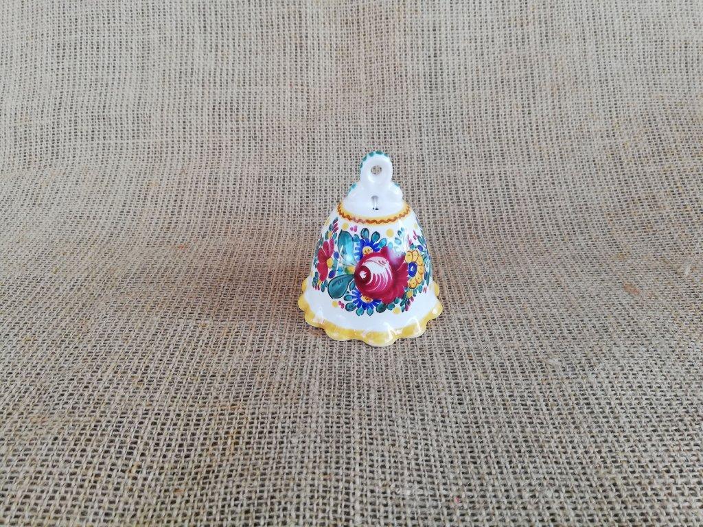 Malovaný keramický zvonek