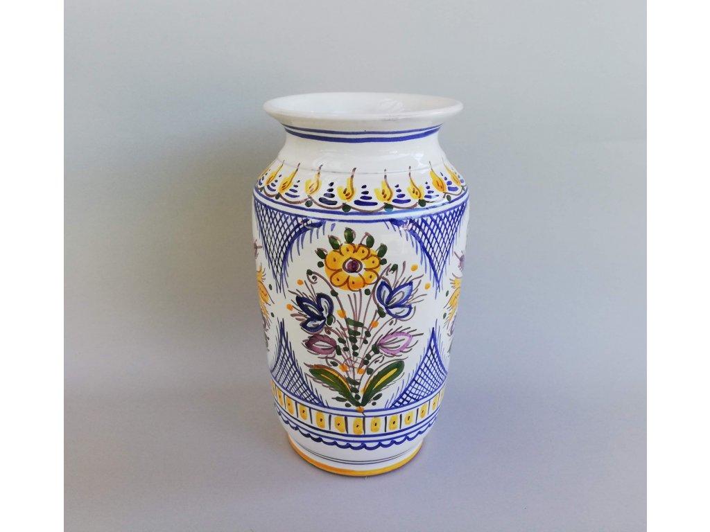Ručně malovaná váza s květy
