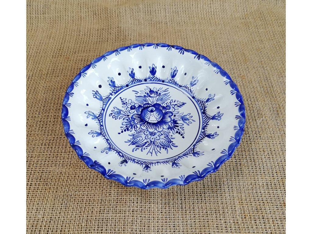 Miska karbovaná modro bílá 20 cm