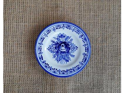 Modro bílý talířek