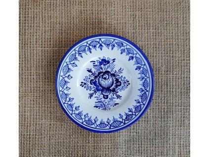 Modro bílý talíř 15 cm