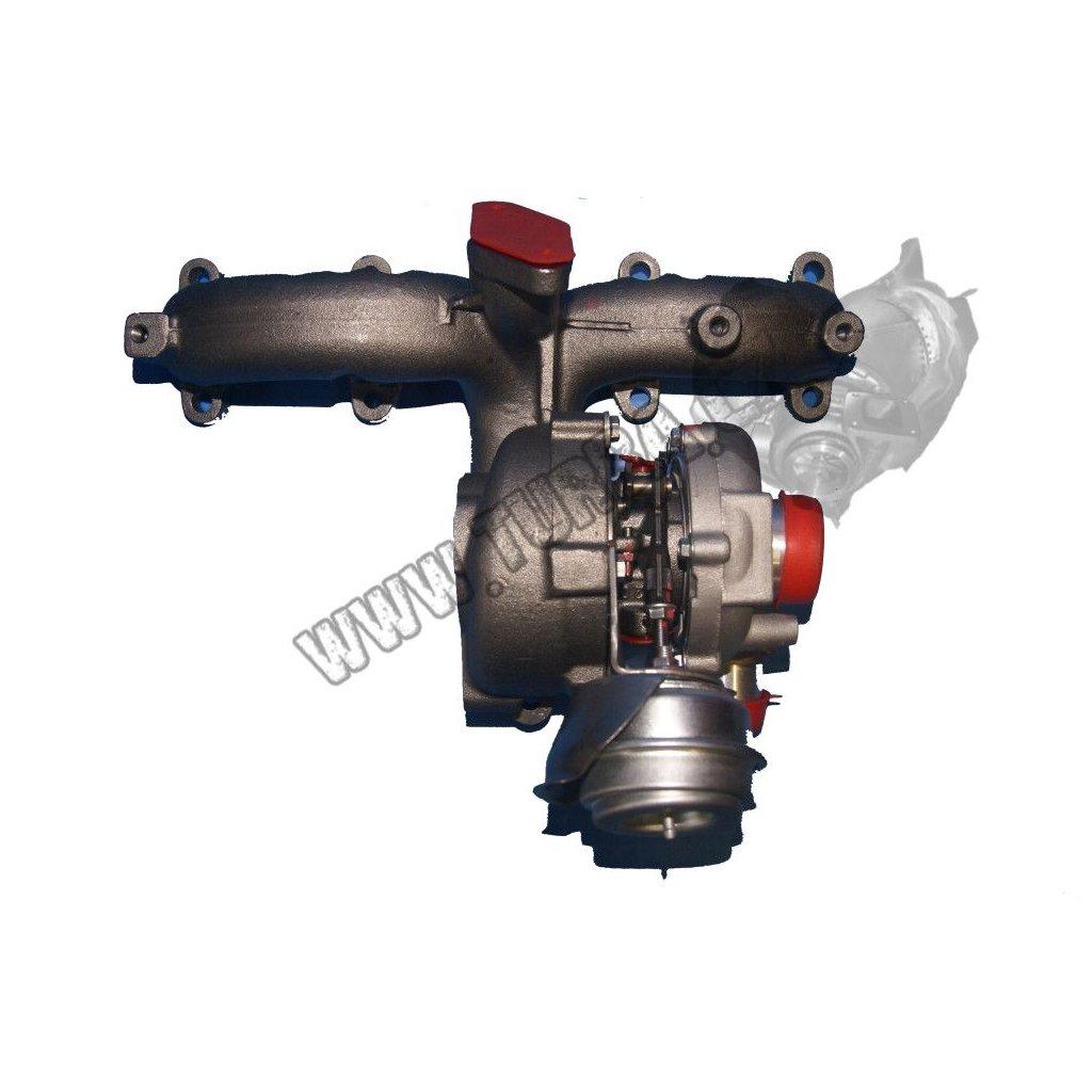Turbodmychadlo VW GOLF IV 1.9 TDi 66, 81 kw - NOVÝ STŘED + VENTIL - 713672