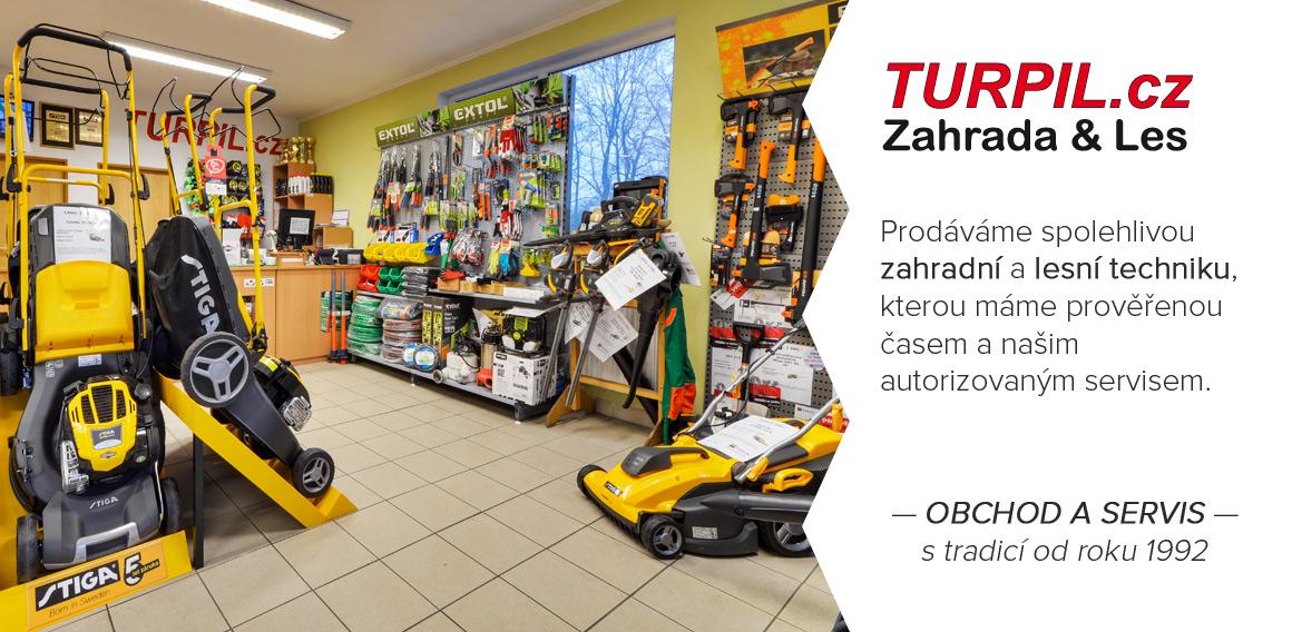 TURPIL.cz — obchod a servis zahradní a lesní techniky