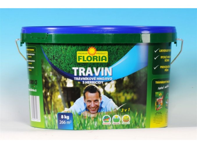 TRAVIN trávníkové hnojivo s herbicidem 4kg