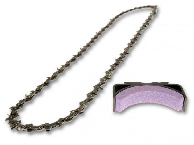 řetěz power sharp - 50 článků 3/8 1,3 + ostřící kámen