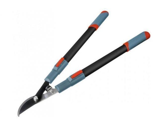 nůžky na větve teleskopické dvousečné, 670-960mm, teleskopická rukojeť